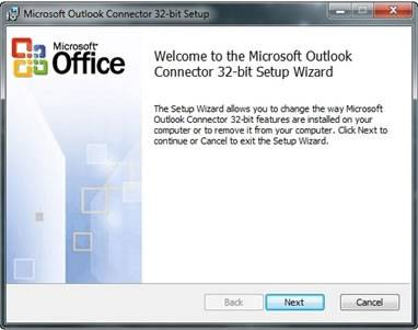 telecharger outlook hotmail connector 32 bits