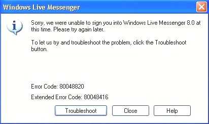 error 80048820