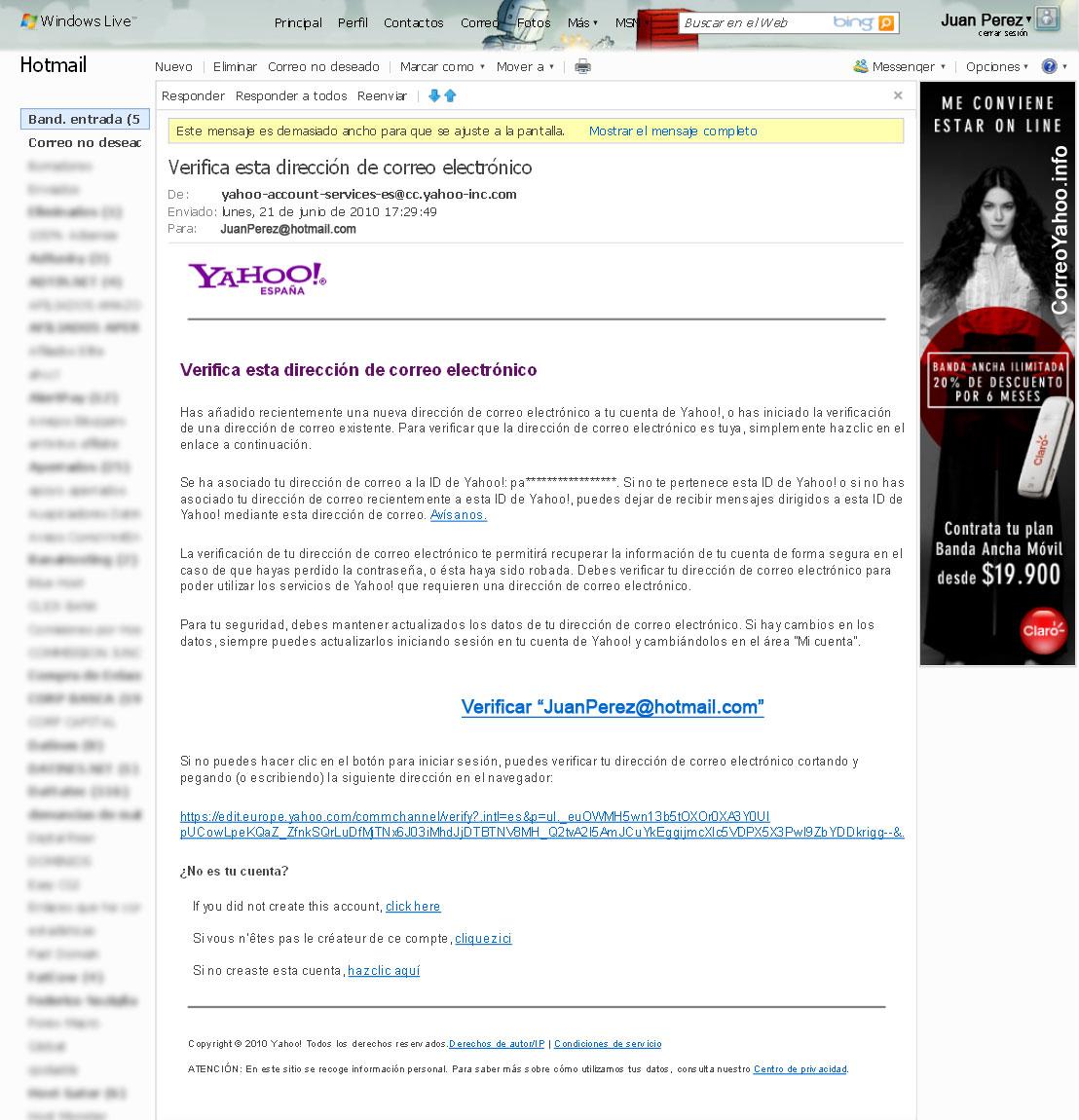 formulario de registro yahoo paso 5