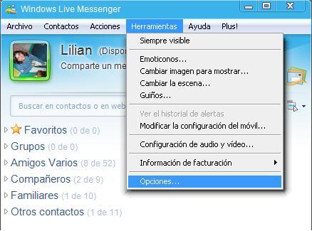 Bloquear y desbloquear contactos en Windows Live Messenger 1