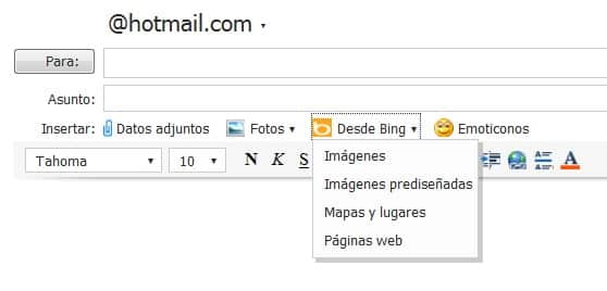 hotmail bing